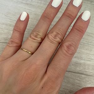Jewelry - Hammered Stacker Ring